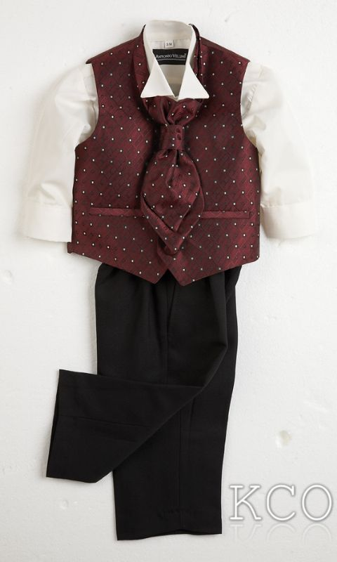 Sicily Burgundy~ Boys Suits